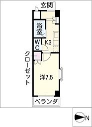 アネックスフジヤII[2階]の間取り