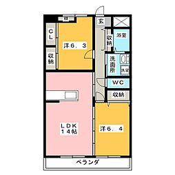 SAIA21[3階]の間取り