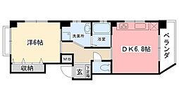 ピュアハウス青蘭館[201号室]の間取り