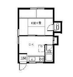 繁森アパート[1階]の間取り