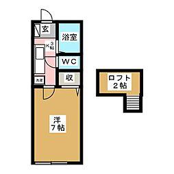 フォーティン八幡[1階]の間取り