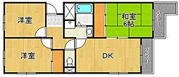 アビタコア3[1階]の間取り