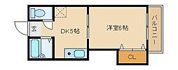 大阪府東大阪市池島町3丁目の賃貸マンションの間取り