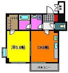 プリマベーラ(稲毛東)[2階]の間取り