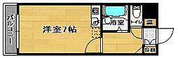 福岡県福岡市南区警弥郷1丁目の賃貸マンションの間取り