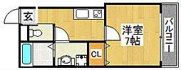 TKアンバーコート堺東[2階]の間取り