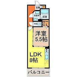 ロイヤルピジョン岩塚[11階]の間取り