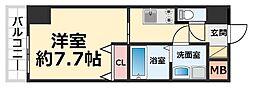 CROUD尼崎 7階1Kの間取り