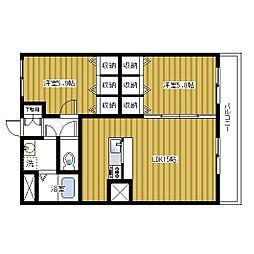 上瓦屋ファーストマンション[301号室]の間取り
