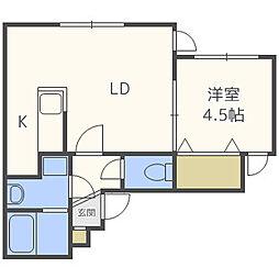 リングル南5条[4階]の間取り
