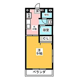 プリームム[4階]の間取り