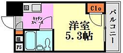 BAUHAUS広島駅前[8階]の間取り