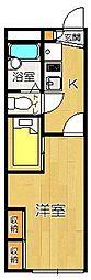 レオパレス西原[108号室]の間取り