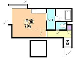 ベストホーム澄川 2階ワンルームの間取り