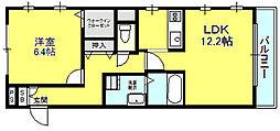 SQUARE COURT SHINKEMIGAWA[301号室]の間取り