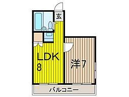 コロネード蕨[5階]の間取り