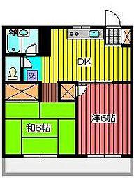 第2荻島ユニティビル[3階]の間取り