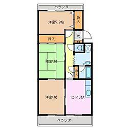 三重県亀山市菅内町の賃貸マンションの間取り