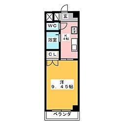 愛知県名古屋市中村区烏森町4丁目の賃貸マンションの間取り