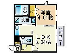 ブランシェ藤崎[5階]の間取り