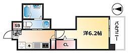 名古屋市営桜通線 高岳駅 徒歩9分の賃貸マンション 3階1Kの間取り