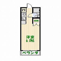 東京都足立区中川2丁目の賃貸マンションの間取り