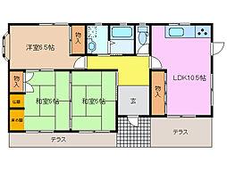アーバンスカイ(新矢田)[1階]の間取り