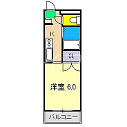 クレメント南宝永[1階]の間取り