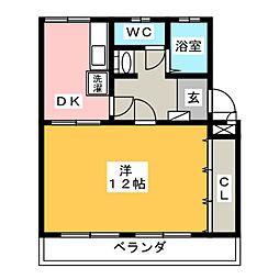 メゾン健和[1階]の間取り