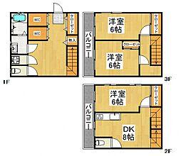 [一戸建] 埼玉県所沢市東所沢和田1丁目 の賃貸【/】の間取り