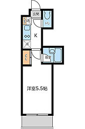 KWプレイス東小金井 4月契約キャンペーン[209号室]の間取り