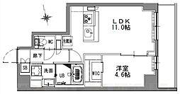 つくばエクスプレス 浅草駅 徒歩16分の賃貸マンション 4階1LDKの間取り
