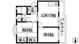 多田グリーンライフ[3階]の間取り