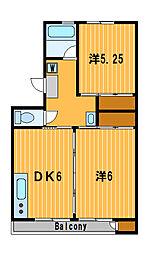 神奈川県横浜市港南区下永谷6の賃貸マンションの間取り