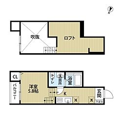 ハ−ベスト 名島[1階]の間取り