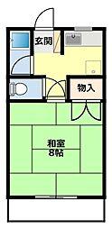 愛知県豊田市宮上町4丁目の賃貸アパートの間取り