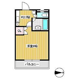 ウィロー村田屋[2階]の間取り