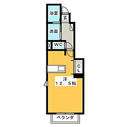 リスメゾン・Y[1階]の間取り