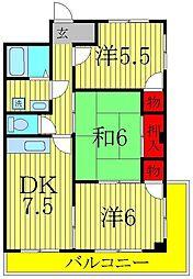 レヂデンス北斗[2階]の間取り