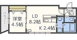 GRASIAS N14 B棟[4階]の間取り