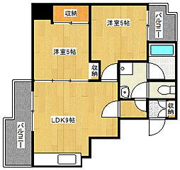 CASA住之江[2階]の間取り