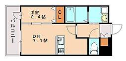 ライフフィールド貝塚駅前 1階1DKの間取り