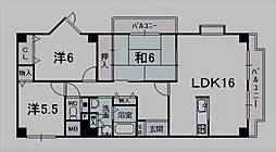 バッハレジデンス西宮上ヶ原[305号室]の間取り