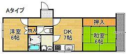 プレアール粉浜[4階]の間取り