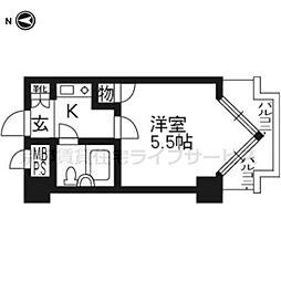 ライオンズマンション京都三条第二603[6階]の間取り