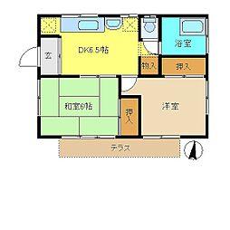 [一戸建] 東京都青梅市日向和田2丁目 の賃貸【/】の間取り