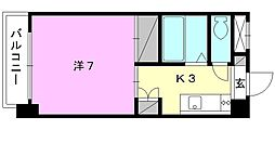 ジョイフル第3今市[306 号室号室]の間取り
