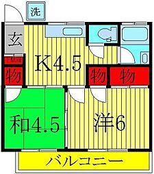 幸せマンション[2階]の間取り