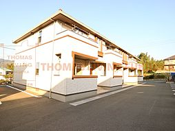 福岡県飯塚市柏の森の賃貸アパートの外観