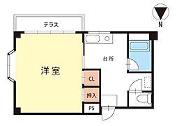 エトワール浅間[1階]の間取り